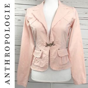 ANTHRO Nick & Mo Shell Pink Blazer Jacket Small